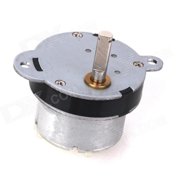 ZnDiy-BRY 12V DC 3rpm Torque Gear Motor - Silver zndiy bry dc 12v 3 5rpm 37mm high torque gear box electric motor silver