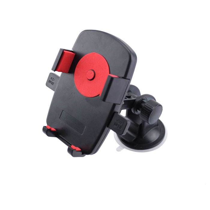 Universal Portable Car Mount Holder w/ Suction Cup for Cellphone / GPS - Black + Red concept car universal windshield mount holder for iphone samsung cellphone black