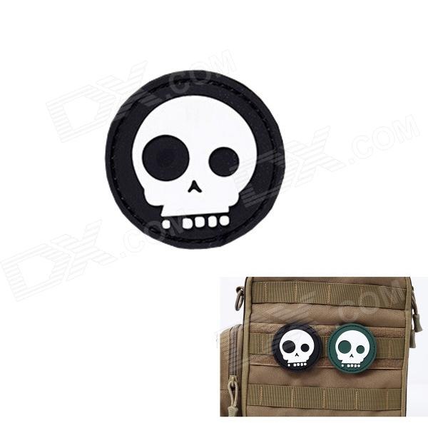 MK Round Skull Tactical Backpack Velcro Armband - Black 6 cm single joint sliding potentiometer b10k 8t handle