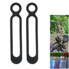 Multifunctional Silicone Elastic Band Strap - Black (2 PCS)