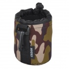Protective High Elastic Waterproof Cloth Bag for DSLR Lens - Camouflage (S)
