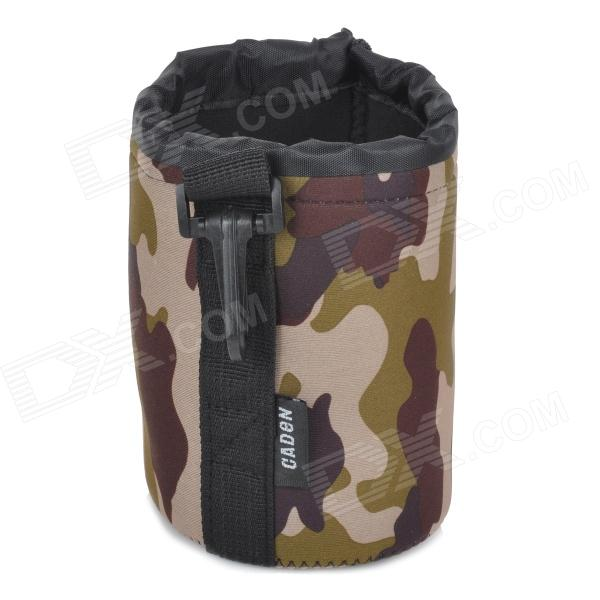 Protective High Elastic Waterproof Cloth Bag for DSLR Lens - AT Camouflage (Size M)