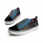 SNJ Men's Casual Canvas Shoes - Blue + Black (Size 43)