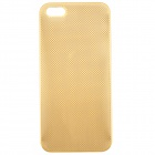 Metal Mesh Classy Hard Protective Back Case for IPHONE 5 / 5S - Golden