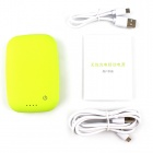 T400 Universal QI Trådløs lader m / 4000mAh Mobile Power for iPhone 5 / Nokia 920 - Grønn