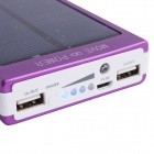 BTY 16000mAh Portable Solar Power Bank for Cellphones / IPAD / PSP / MP3 and More - Purple