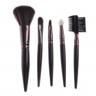 Fali H5 5-in-1 Professional Makeup Cosmetic Brushes Set - Coffee