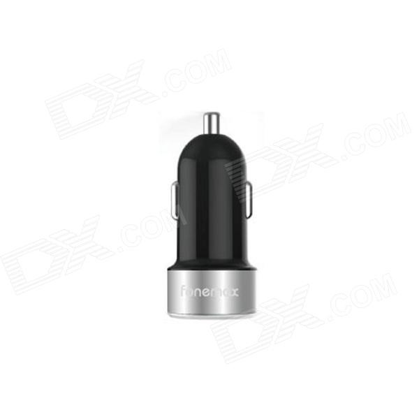 Fonemax Car Charger w/ Dual USB - Black + Grey fonemax car charger w dual usb black grey