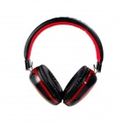 MQ22 3.5mm On-ear Headphones with Microphone for IPHONE / IPOD / IPAD - Black + Red