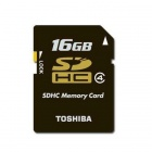 Toshiba 16GB SDHC Class 4 Secure Digital Memory Card (SD-K16G2B8TRT)