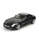 Benz SLS Genuine Authorized 4-CH R/C Car w/ LED - Black