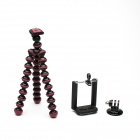 JUSTONE 3-in-1 Mini Octopus Tripod for Camera / Phone / GoPro 2 / 3 / 3+ / SJ4000 - Black + Fuschia