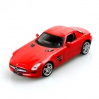 Genuine 1:24 Benz SLS 4-Channel Remote Cntrol R/C Toy Car w/ LED Light - Red