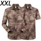 ESDY-611 Men's Outdoor Sports Climbing Detachable Quick-Drying Polyester Shirt - Camouflage (XXL)