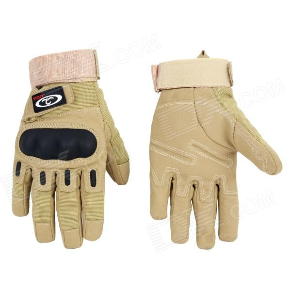 OUMILY Outdoor Tactical Full-Finger Gloves - Khaki (Size M / Pair)