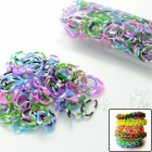 "DIY Looms Elastic Silicone Band + ""S"" Hook Set for Children - Multicolored (600 PCS)"