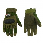 OUMILY Outdoor Tactical Full-Finger Gloves - Army Green (Size M / Pair)