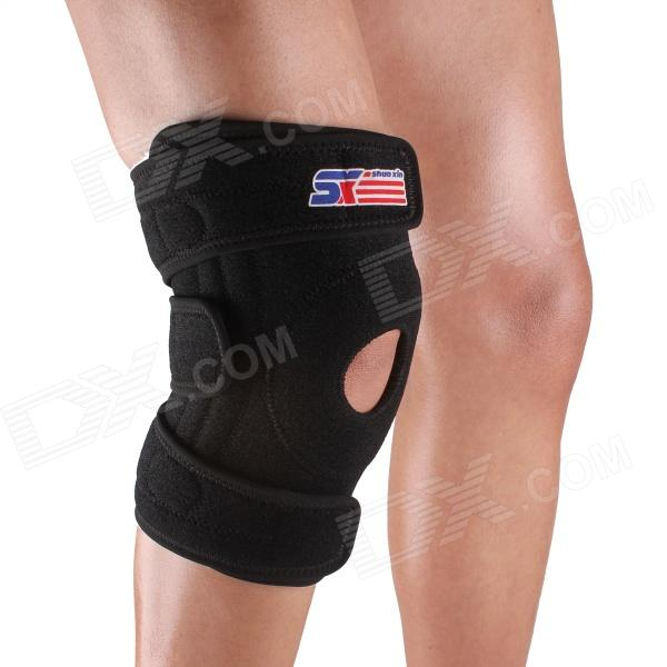 ShuoXin SX616 Adjustable Silicon 4-Feder-Sport Knee Guard Schutzfolie - Schwarz