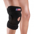 ShuoXin SX616 Adjustable Silicon 4-spring Sport Knee Guard Protector - Black
