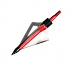 TP211 3- Blade Hunting Shooting Arrow Head Broadheads - Red + Silver (3 PCS)