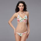 T152 Women's Sexy Patterned Nylon + Lycra + Spandex Bikini Set Swimwear - White (M)