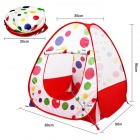 Outdoor Camping Tent for Children / Baby - White + Red