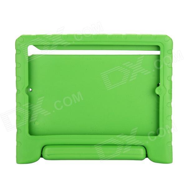 EPGATE A00475 Handheld Portable Shatter-resistant Stand Rubber Case for IPAD AIR - Green hand held rubber floaty grip
