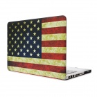 "USA Flag Pattern Protective Full Body Matte Case for MacBook Air 15.4"" - Multicolor"