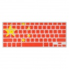 Angibabe China Flag Pattern Protective Silicone Keyboard Cover for MACBOOK AIR / PRO / RETINA - Red