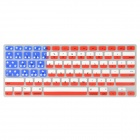 Angibabe US Flag Pattern Protective Silicone Keyboard Cover for MACBOOK AIR / PRO / RETINA