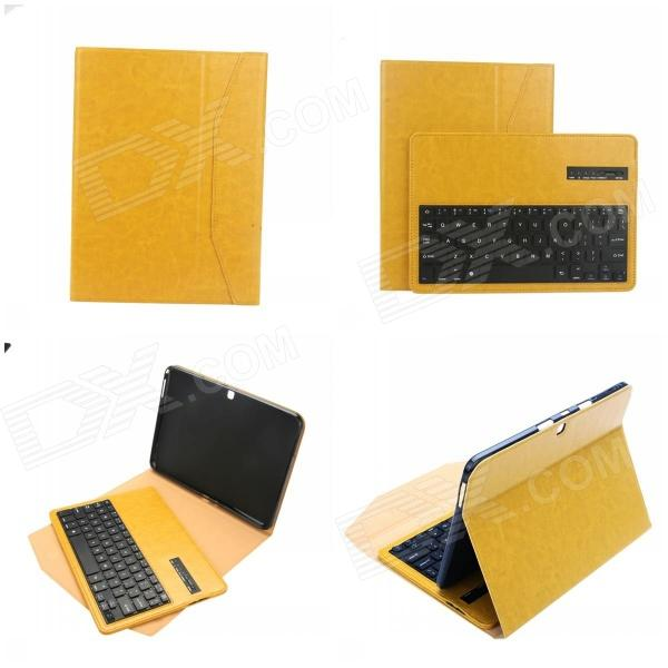 EPGATE Wireless Bluetooth V3.0 Keyboard + Protective PU Leather Case for Samsung T530 - Yellow Flint Sale of goods