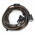 Apower-link D-V05 VGA Male to Male Connection Cable - Translucent Brown + Black (4.9m)