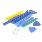 9-in-1 Professional Disassembly Repairing Tool for IPHONE / IPOD / PSP - Blue + Yellow