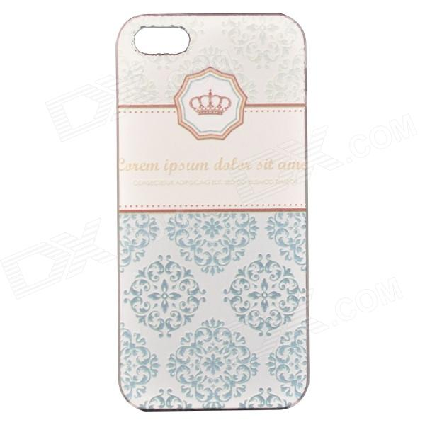 Caso del modelo de bajo relieve Crown PC de Protección de nuevo caso para IPHONE 5 / 5S - azul + blanco + Multi-Color