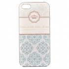 Basso-Relievo Crown Pattern Protective PC Back Case for IPHONE 5 / 5S - Blue + White + Multi-Color