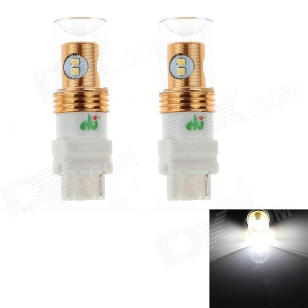 HJ 3156 8W 600lm 6500K 8-SMD 2323 LED White Steering / Reversing Lamp Bulb for Car (12~24V, 2PCS) hj h16 8w 600lm 6500k 8 smd 2323 led white steering reversing lamp for car 12 24v 2pcs