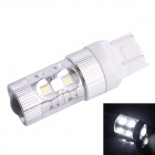 T20 60W 600LM 6500K 12-SMD LED White Light Steering Brake Lamp for Car (DC12-24V)