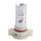 H16 60W 6500K 650LM 12 SMD LED White Light Foglight Farol para Carro (DC12-24V)