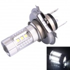H4 80W 600LM 6500K 12-SMD LED White Light Foglight Farol para Carro (DC12-24V)