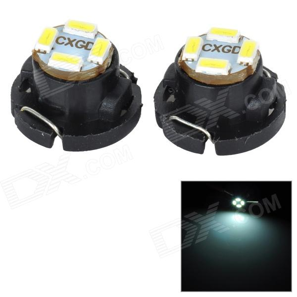 SENCART T5 / T4.7 1W 30LM 12000K 3014 SMD LED Cool White Light Car Lamp (2pcs / DC 12~16V) sencart sv8 5 8 1w 40lm 9500k 5730 smd led cool white light car roof reading lamp 2pcs dc12 16v