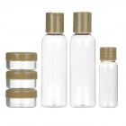 Portable Travel ABS Cosmetic Separate Storage Bottles Set - Mud + Transparent
