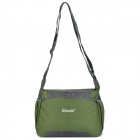 "OKADE T23 Fashionable Square Outdoor Travel 10"" Nylon Shoulder Messenger Bag - Dark Green"