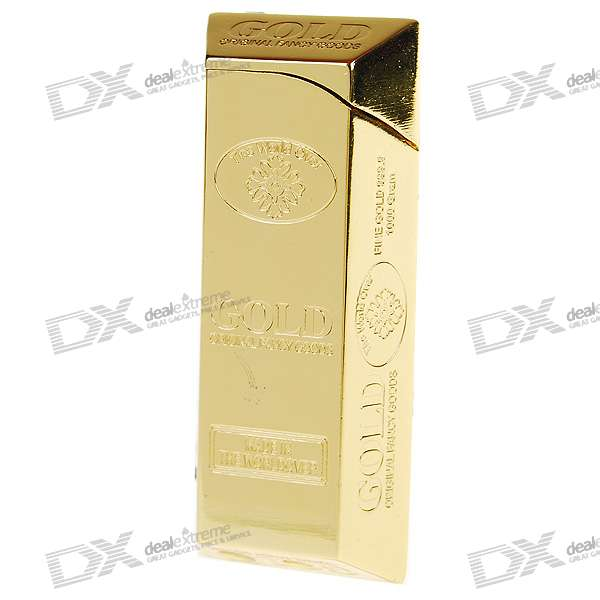 Gold Bullion Bar Shaped Butane Gas Lighter