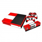 0232 Waterproof Austria Flag Pattern Protective Vinyl Sticker for XBOX ONE Console Controller - Red