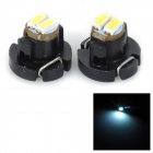 SENCART T5 / T3 0.5W 15LM 12000K 3014 SMD LED Cool White Light Car Lamp (2pcs / DC 12~16V)