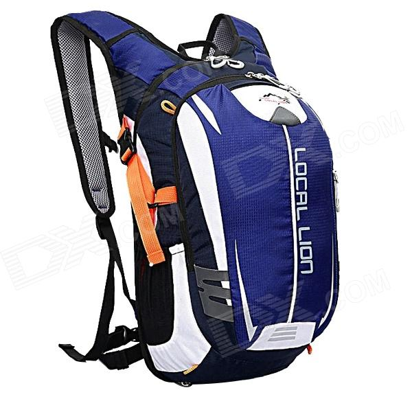 LOCAL LION Outdoor Cycling Double Shoulder Backpack Bag - Blue + Black