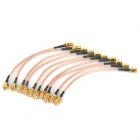 SMA Male to SMA Female RG316 Cables - Golden + Black (10 PCS / 14cm)