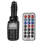 1.0&quot;&quot; LCD Car MP3 Player FM Transmitter - Black (SD/USB)