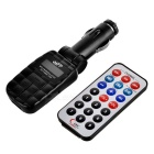 "1.0"" LCD Car MP3 Player FM Transmitter - Black (SD/USB)"
