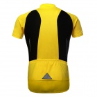 ARSUXEO AR626 Men's Outdoor Cycling Quick Dry Short Sleeves Jersey Top - Yellow + Black (L)